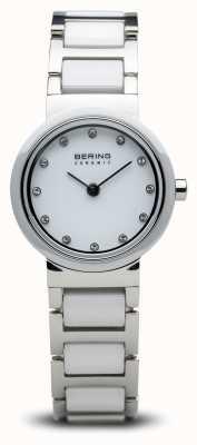 Bering Dwukolorowy zegarek ceramiczny minimalistyczny 10725-754