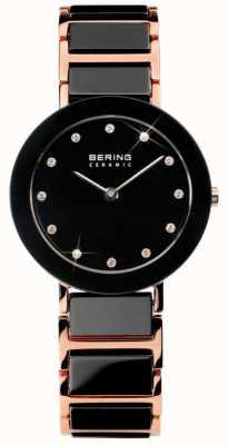 Bering Nowoczesny zegarek ceramiczny z podwójnym brzmieniem 11429-746