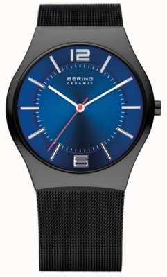 Bering Zegarek męski z ceramicznym siatkowym zegarem 32039-447
