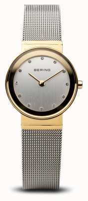 Bering Time damskie złote i srebrne klasyczne oczka 10122-001