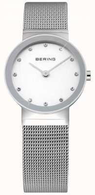 Bering Zegarek damski z siatki srebrnej 10126-000