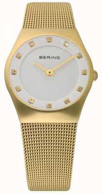 Bering Zegarek ze złotej siateczki 11927-334