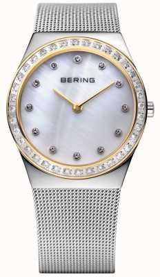 Bering Wyjątkowo smukły zegarek wykonany z kamienia 12430-010