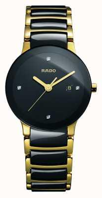 Rado Zaawansowany technologicznie ceramiczny czarny zegarek z tarczą Centrix Diamonds R30930712