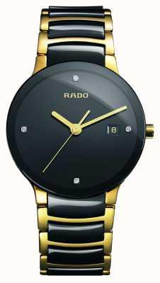 RADO Zaawansowany technologicznie ceramiczny czarny zegarek z tarczą Centrix Diamonds R30929712