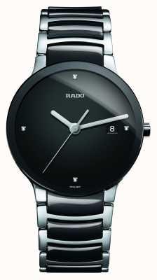 RADO Zaawansowany technologicznie ceramiczny czarny zegarek z tarczą Centrix Diamonds R30934712