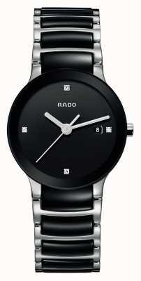 RADO Zaawansowany technologicznie ceramiczny czarny zegarek z tarczą Centrix Diamonds R30935712