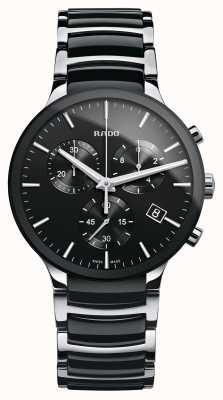 RADO Czarny ceramiczny zegarek z chronografem Centrix R30130152