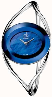Calvin Klein Damska rozkosz, niebieska masa perłowa (średnia) K1A2481E