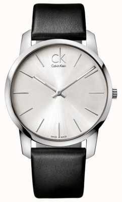 Calvin Klein Męski zegarek miejski minimalistyczny czarny pasek K2G211C6