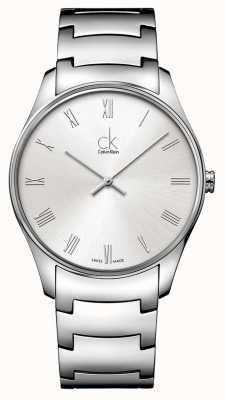 Calvin Klein Męski klasyczny srebrny zegarek K4D2114Z