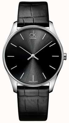 Calvin Klein Męski klasyczny czarny zegarek K4D211C1