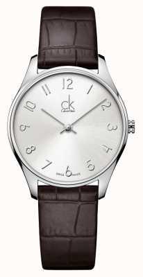 Calvin Klein Klasyczny damski zegarek ze skóry K4D221G6