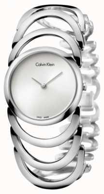 Calvin Klein Zegarek damski ze srebra K4G23126