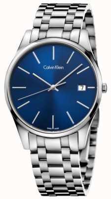 Calvin Klein Zegarek męski w kolorze srebrno-niebieskim K4N2114N