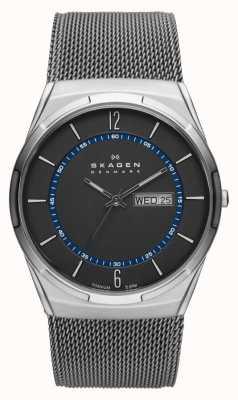 Skagen Męski zegarek Titanium z siatką w kolorze szarym SKW6078