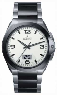 Junghans Męskie spektrum mega ze stali nierdzewnej i czarny ceramiczny zegarek 018/1423.44