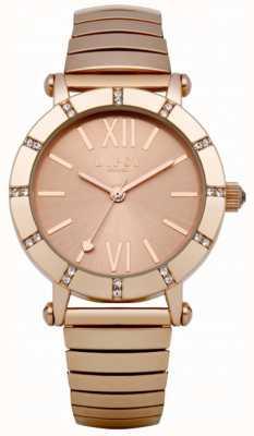 Lipsy Zegarek na bransoletkę z różowego złota LP100
