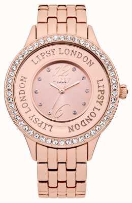 Lipsy Damska bransoletka z różowym odcieniem i zestawem kryształów róż LP140