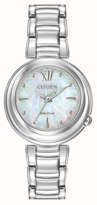 Citizen Eko-napędowy kobiet l wschód słońca zegarek EM0330-55D