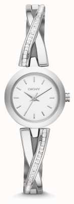 DKNY Zegarek damski z srebrnego kamienia NY2173