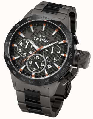 TW Steel Stołek męski Michel czarny chronograf TW0313