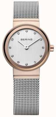 Bering Klasyczny damski zegarek w kolorze różowego złota 10126-066