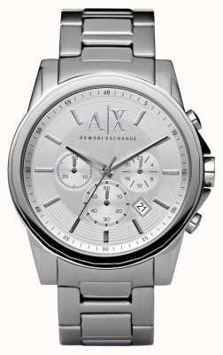 Armani Exchange Męski srebrny stalowy chronograf AX2058