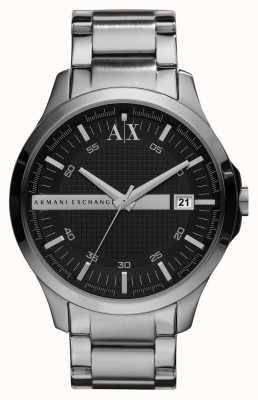 Armani Exchange Zegarek męski elegancki srebrny zegarek AX2103