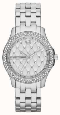 Armani Exchange Zestaw kryształowych bransoletek dla kobiet AX5215