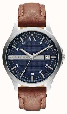 Armani Exchange Męski skórzany pasek na rękę AX2133