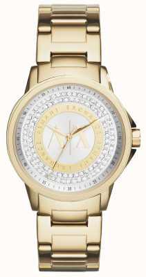 Armani Exchange Zestaw kryształów pozłacanych dla kobiet AX4321
