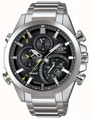 Casio Synchronizacja Bluetooth gmole twardy czarny inteligentny zegarek EQB-501D-1AER