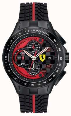 Scuderia Ferrari Męski dzień wyścigu, czarny, gumowy zegarek na rękę 0830077