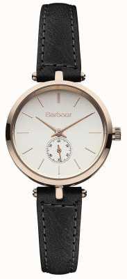 Barbour Zegarek z czarnym skórzanym paskiem Lisle BB011RSBK
