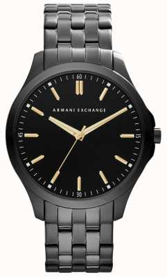 Armani Exchange Męskie, eleganckie, platerowane czarnym złotym akcentem akcenty AX2144