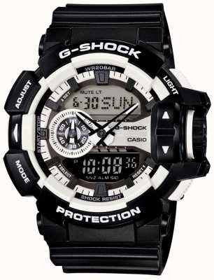 Casio Czarny zegarek męski g-shock bluetooth GA-400-1AER