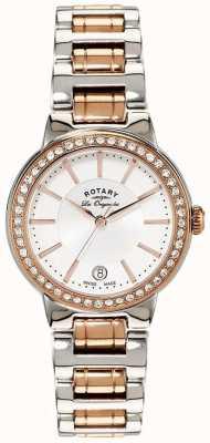 Rotary Damski les originales zegarek ze stali nierdzewnej w kolorze różowego złota LB90083/02