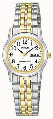 Lorus Dwukolorowy zegarek na pasek bransoletki RXU11AX9