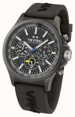 TW Steel Męski vr46 czarny ip stalowy czarny gumowy chrono pasek TW935