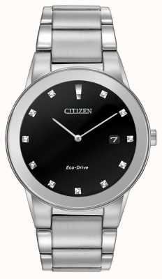 Citizen | aksjomat męski eco-drive | czarna tarcza diamentowa | AU1060-51G
