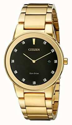 Citizen | mens axiom eco-drive | diamentowa czarna tarcza | AU1062-56G