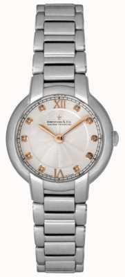 Dreyfuss Damski srebrny zegarek z diamentami DLB00060/D/01