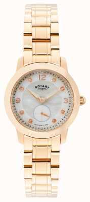 Rotary Damskie cambridge, różowe złoto, perła, kryształ LB02702/41