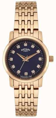 Rotary Damska różowa niebieska tarcza LB02462/05