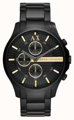 Armani Exchange Mężczyzna cały czarny chronograf AX2164