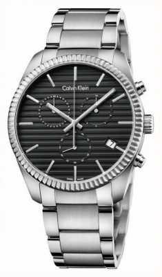 Calvin Klein Męski srebrny chronograf sojuszu K5R37141