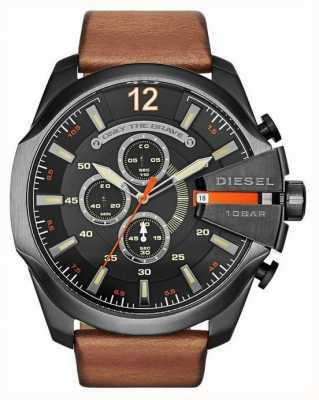 Diesel Męski mega szef czarny chronografu zegarek DZ4343