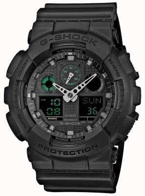 Casio G-shock stealth zielony czarny męski zegar światowy GA-100MB-1AER