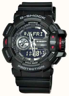 Casio Męski czarny zegarek chronografowy g-shock GA-400-1BER